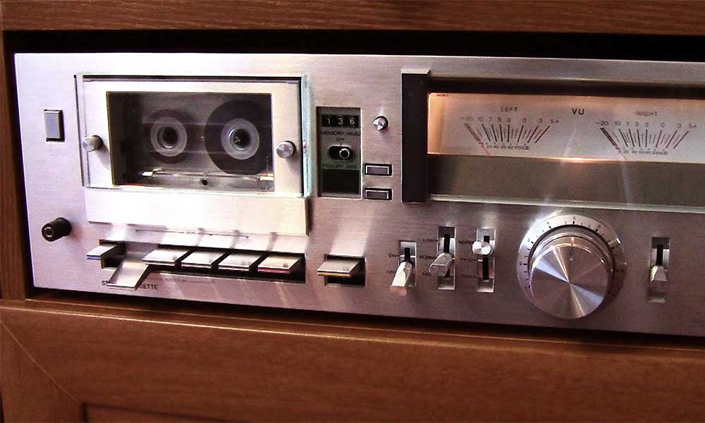Close up of a Cassette Deck.